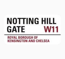Notting Hill Gate Sign by StreetsofLondon