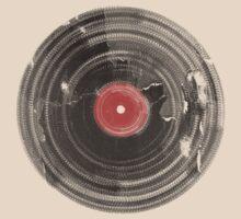 Cool Grunge Vinyl Record Vintage T-Shirt by Denis Marsili