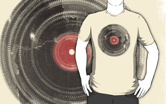 Cool Grunge Vinyl Record Vintage T-Shirt by Denis Marsili