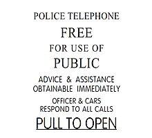 Police Telephone Box Photographic Print