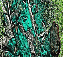 Wood Pile in Green by noriesworld
