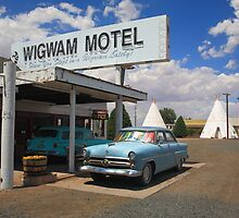 Route 66 - Wigwam Motel by Frank Romeo