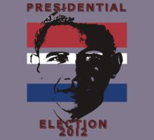 Red White & Blue Stripes Barack Obama Presidential Election 2012 by HomeTimeArt