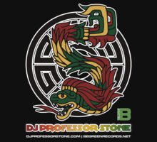 DJ Professor Stone - July 2012 Merch ver 777 black circle rasta text by David Avatara