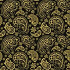 Elegant Gold Tones Vintage Paisley Ornate Pattern Design by artonwear