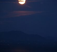 Full Moon over Solway Firth by hoppityhops