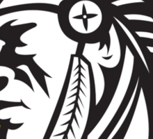 Native American Indian Chief Side Sticker