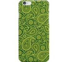 Green And Yellow Vintage Elegant Ornate Paisley Seamless Pattern Design iPhone Case/Skin