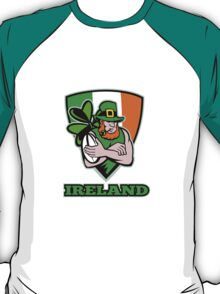 Irish leprechaun rugby player T-Shirt