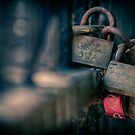 safe and sound....(Padlocks, Grange park, Beverley Street, Toronto, Ontario, Canada) by Russ Styles
