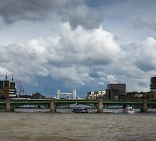 Thames view with Shard by Gary Eason