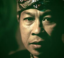 Portrait of a Balinese Man.  by Valerie Rosen