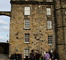 Tourists in front of the royal palace inside the Edinburgh Castle by ashishagarwal74