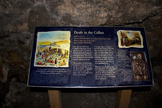 Signboard in the cellars of the Edinburgh Castle by ashishagarwal74