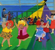 Bruthen Beauties raging at the Blues by Marg Pearson