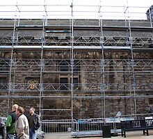 Scaffolding inside the Edinburgh Castle by ashishagarwal74