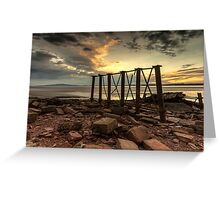 Bowness Viaduct Sunset Greeting Card