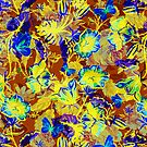 Colorful floral collage by artonwear