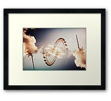 wheel of death Framed Print
