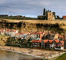 Looking Across to Whitby Abbey by Christine Smith