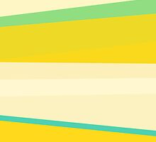 Retro Colorful Striped Abstract by Nhan Ngo