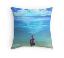 Seashores of Eternity Throw Pillow