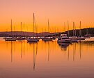 Masts at Sunset by bazcelt