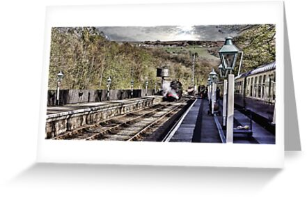 Looking Down The Platform by Trevor Kersley