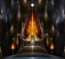 Temple Of Golden Fire by xzendor7