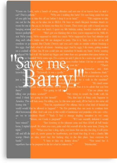 """Save me, Barry!"" by Allison Imagining"
