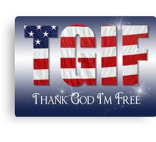 Patriotic Thanks Canvas Print
