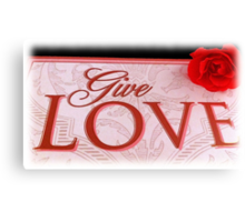 VALENTINES DAY CARD - LOVE MATTERS Canvas Print