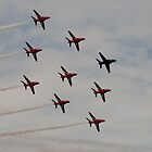 Red Arrows # 11 by Dale Rockell