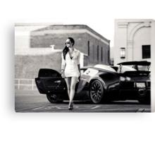 Corissa Fur - Bugatti Veyron Canvas Print
