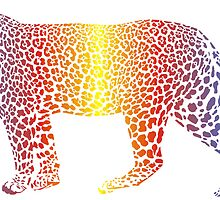 Abstract rainbow leopard by gepard