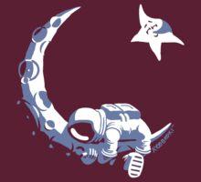 Moonstuck - Alternate Universe on Dark Red T-Shirt