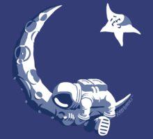Moonstuck - Five O'Clock Shadow on Blue by Koobooki