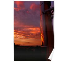 Evening Sky Reflections Poster