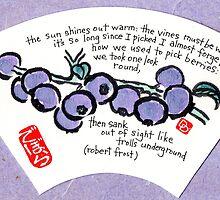 Blueberries on a Fan by dosankodebbie