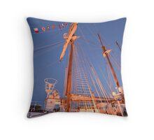 JS DE ELCANO . Spanish Tall Ship. Lisbon Throw Pillow
