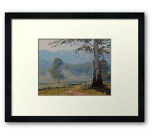 Valley Gum Tree Framed Print
