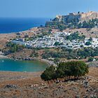 Lindos Overlook, Rhodes, Greece by strangelight