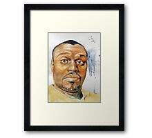 Self-Portrait - Artist In Surprised Mode Framed Print