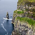 tower and cliffs by Michelle McMahon