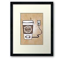 Time to Recharge Framed Print