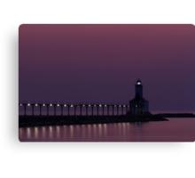 Michigan City, Indiana's East Pierhead Light at Twilight Canvas Print