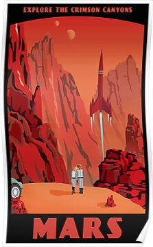 Mars Travel Poster by stevethomasart