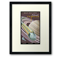 Saturn Travel Poster Framed Print