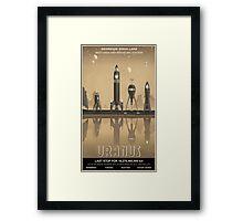 Uranus Travel Poster Framed Print