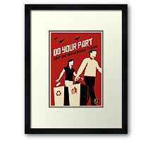 Do Your Part and Keep the Breakroom Clean Framed Print